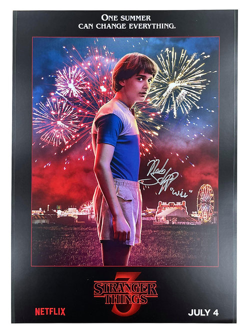 A3 Stranger Things S3 Will Byers Poster Signed By Noah Schnapp