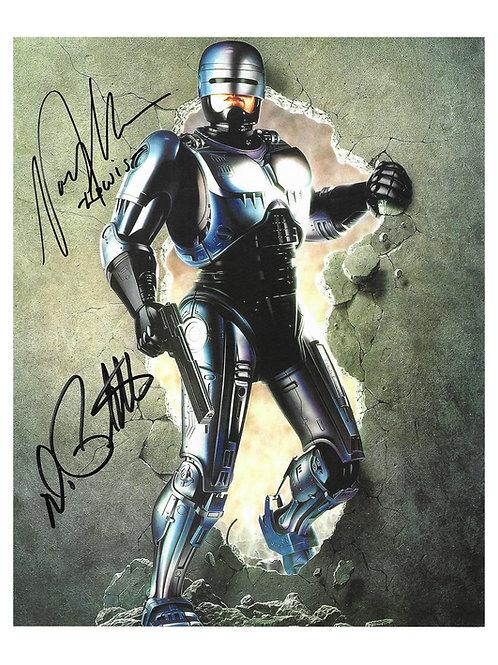 8x10 Robocop Print Signed by Peter Weller and Nancy Allen