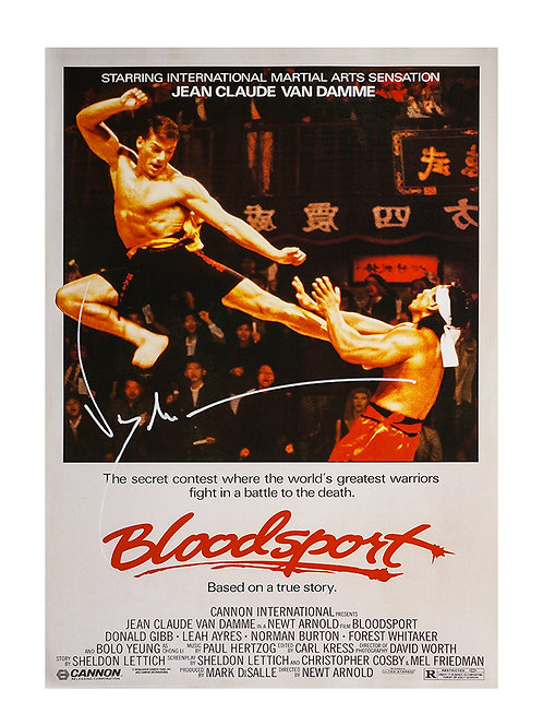 A3 Bloodsport Poster Signed by JCVD Jean-Claude Van Damme