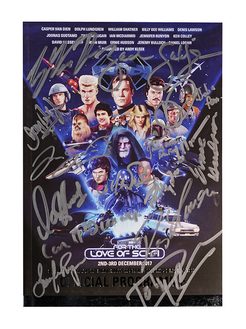 For The Love Of Sci-Fi 2017 Programme Signed By All Guests