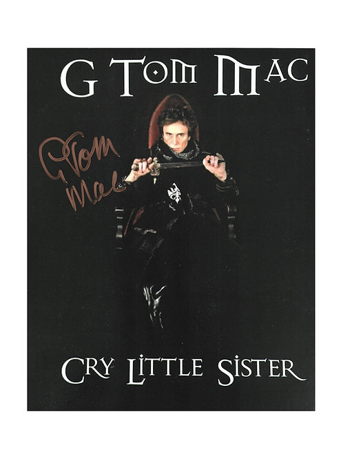 8x10 Cry Little Sister Print Signed by G Tom Mac