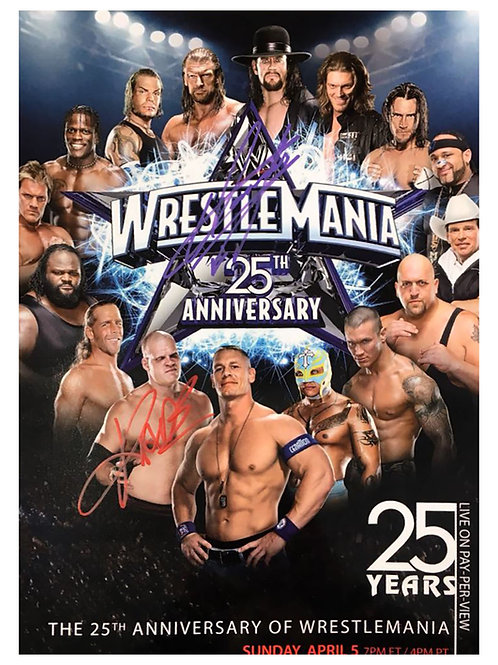 A3 Wrestlemania Poster Signed by Kane & The Undertaker