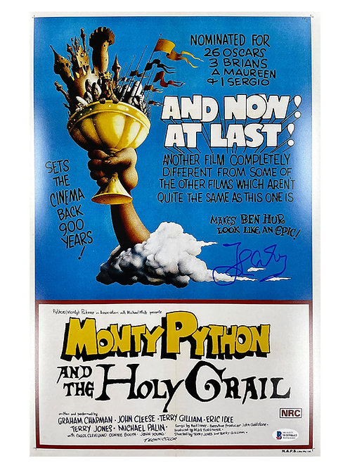 11x17 Monty Python and the Holy Grail Poster Signed by John Cleese