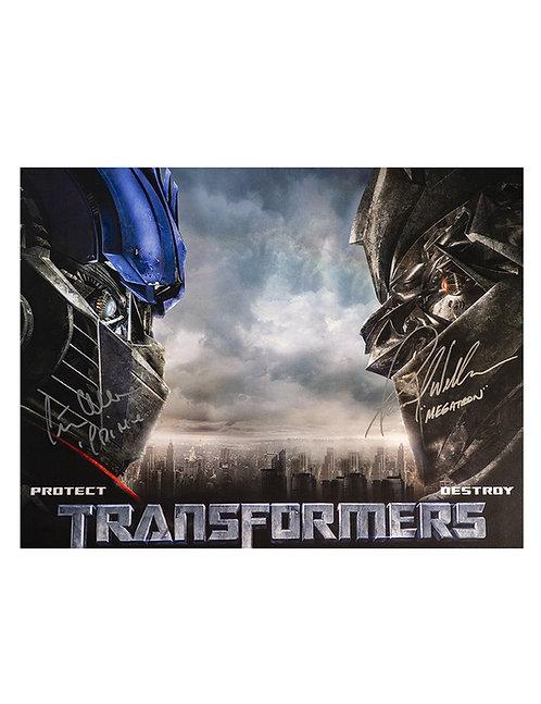 Optimus Prime & Megatron 16x12 Print Signed by Peter Cullen & Frank Welker
