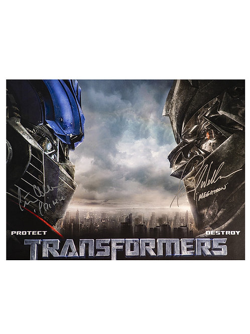 16x12 Transformers Print Signed by Peter Cullen & Frank Welker