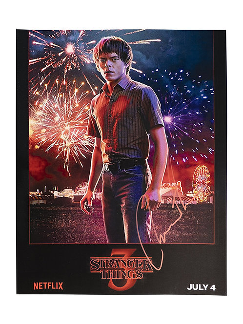 12x16 Stranger Things Print Signed by Charlie Heaton