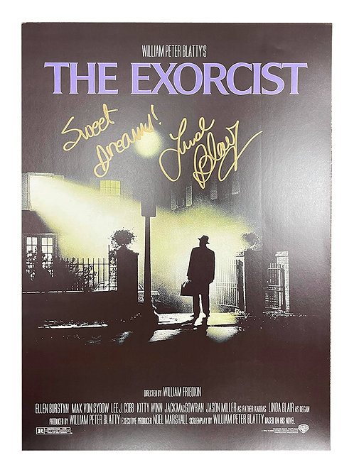 A3 The Exorcist Poster Signed by Linda Blair