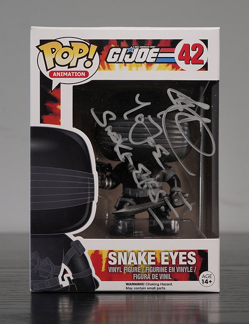 Snake Eyes Packaged Funko Pop Figure Signed By Ray Park