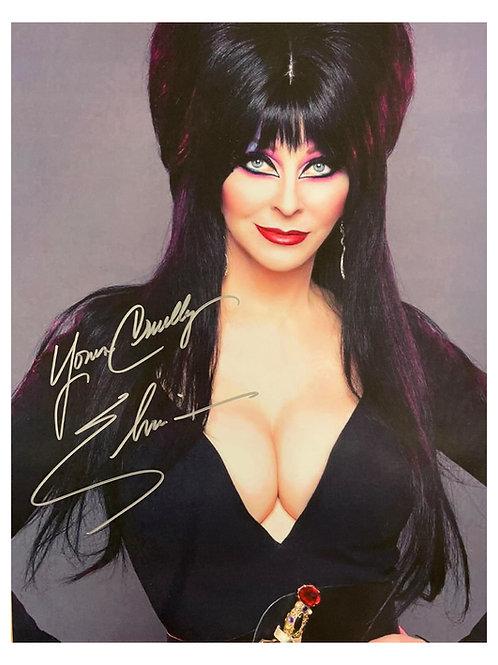 12x16 Elvira Print Signed by Cassandra Peterson