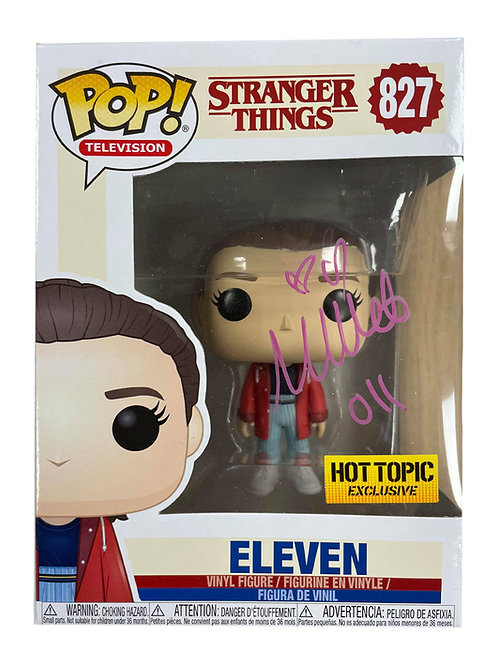 Stranger Things #827 Eleven Funko Pop Signed in Silver by Millie Bobby Brown