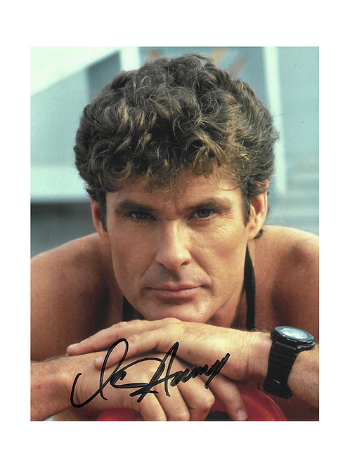 8x10 Baywatch Print Signed by David Hasselhoff