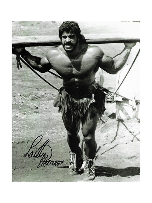 8x10 Hercules Print Signed by Lou Ferrigno