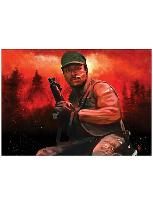 Ltd Ed. A2 Predator Illustrated Dillon - Carl Weathers - Poster by Paul Butcher