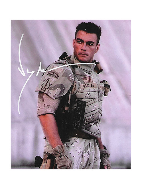 8x10 Universal Soldier Print Signed by JCVD Jean-Claude Van Damme