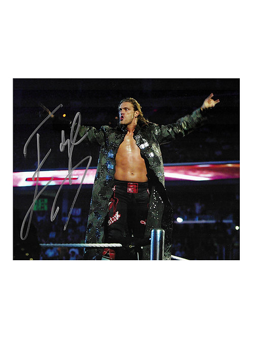 10x8 Print Signed by Wrestling Superstar Edge