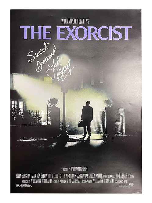 A2 The Exorcist Poster Signed by Linda Blair