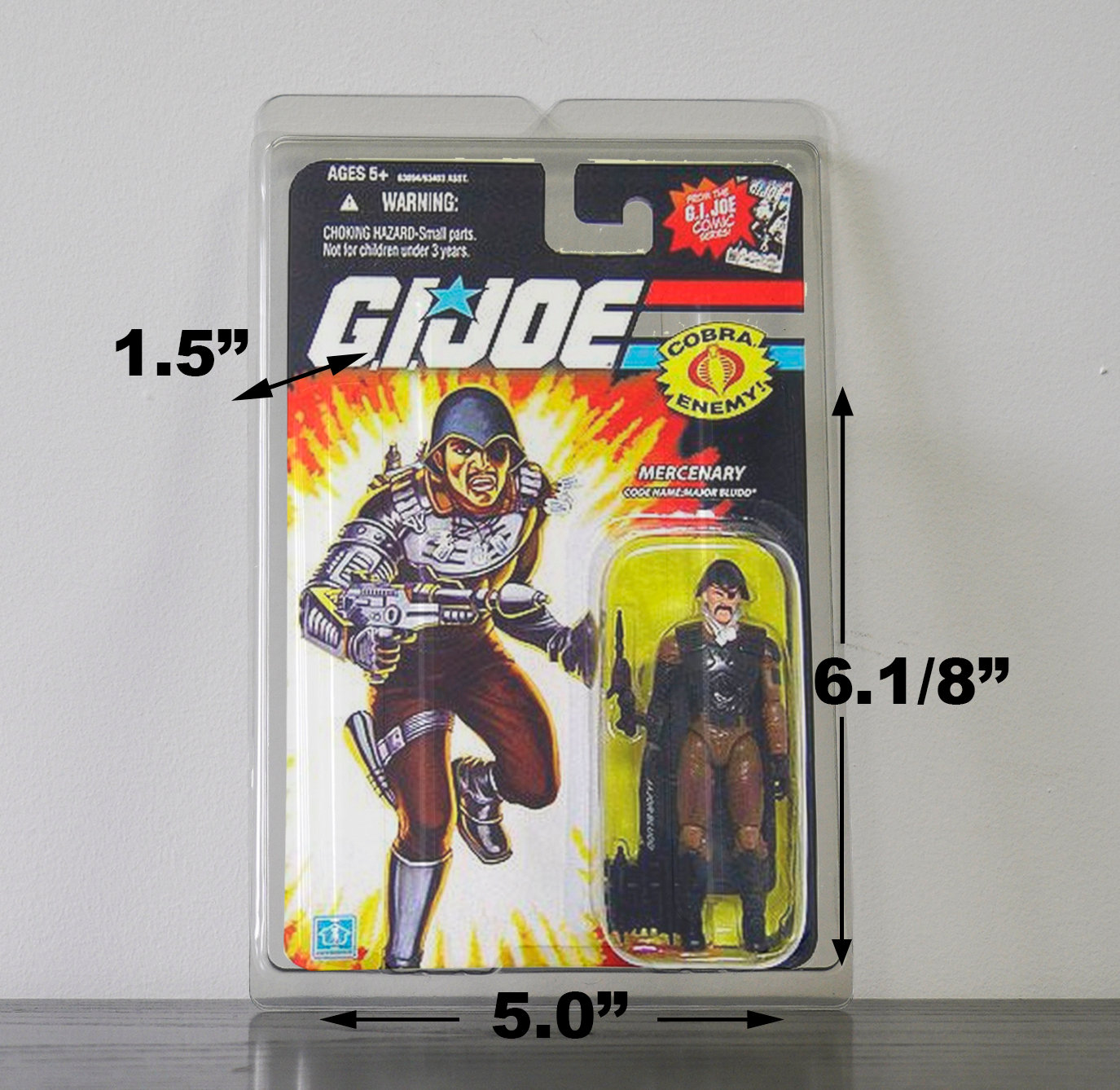 5 x Protective Cases For MOC Vintage GI Joe Taller Carded Figures