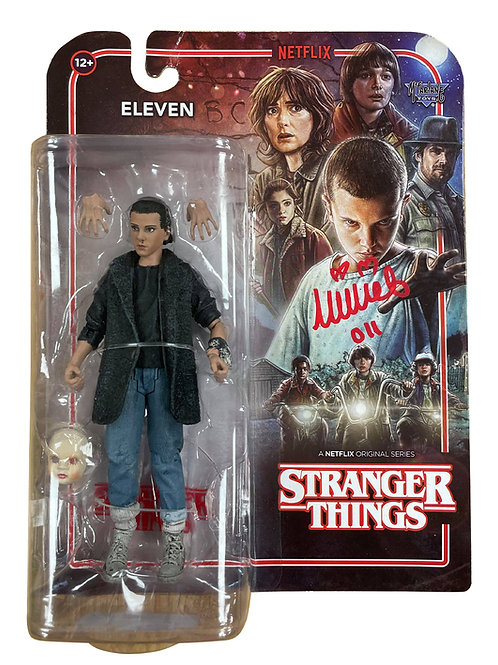 Stranger Things S2 Eleven McFarlane Action Figure Signed by Millie Bobby Brown