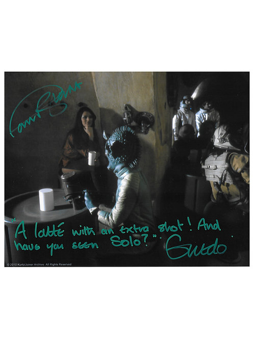 "10x8 Star Wars Greedo ""Latte"" Quote Print Signed by Paul Blake"