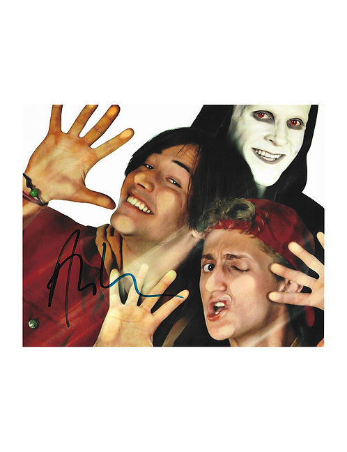 10x8 Bill & Ted's Bogus Journey Print Signed by Alex Winter