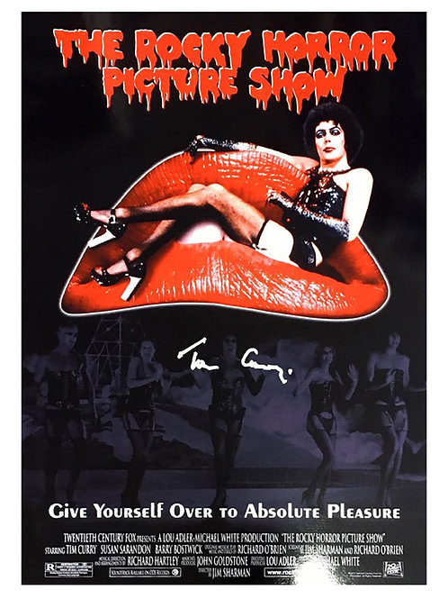 A3 Rocky Horror Picture Show Poster Signed by Tim Curry