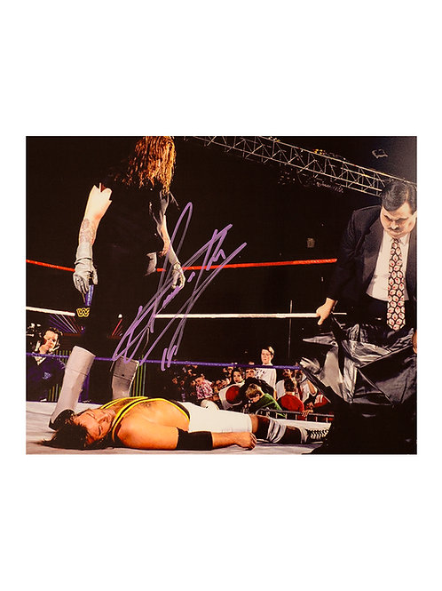 12x10 Print Signed by Wrestling Superstar Mark Calaway aka The Undertake