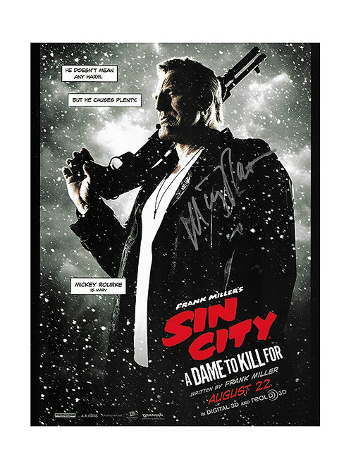 8x10 Sin City Print Signed by Mickey Rourke