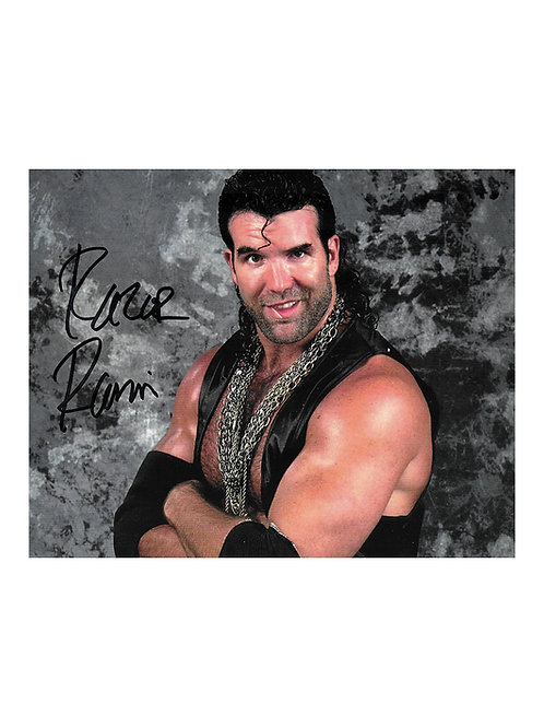 10x8 Print Signed by Wrestling Superstar Scott Hall aka Razor Ramon