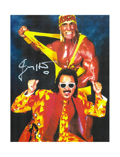 """8x10 Print Signed by Wrestling SuperstarJimmy """"Mouth Of The South"""" Hart"""