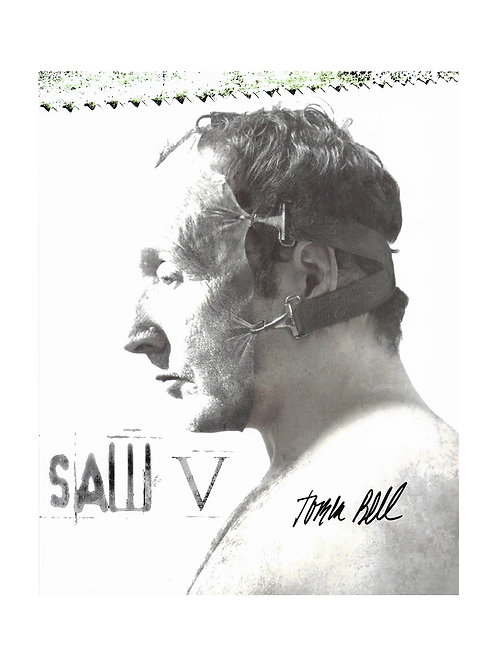 8x10 Saw V Print Signed by Tobin Bell