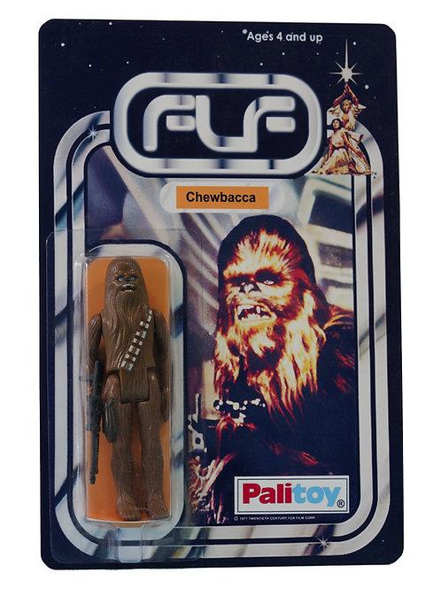 Vintage 1977 Star Wars Chewbacca Figure On Custom Made FTLOT