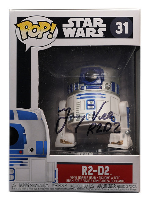 R2D2 Funko Pop Signed by Jimmy Vee