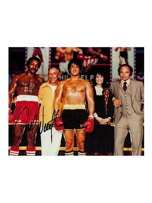 10x8 Rocky II Print Signed by Carl Weathers