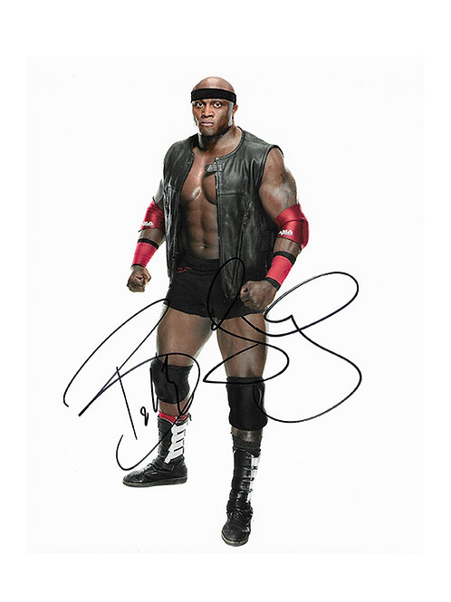 8x10 Print Signed by Wrestling Superstar Bobby Lashley