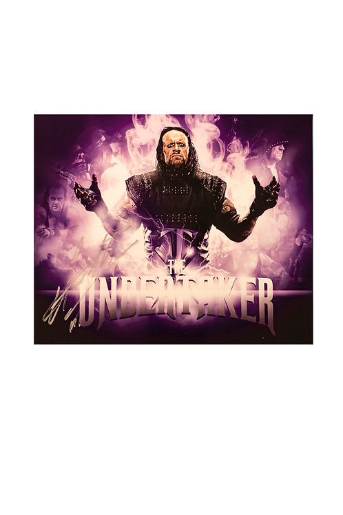 12x10 Print Signed by Wrestling Superstar Mark Calaway aka The Undertaker