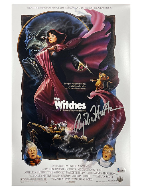 11x17 The Witches Poster Signed by Anjelica Huston