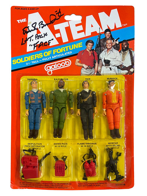 The A-Team Vintage Action Figure Pack Signed by Dirk Benedict