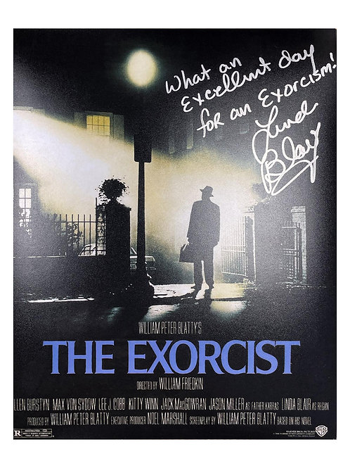 8x10 The Exorcist Print Signed by Linda Blair