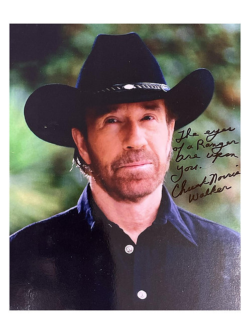 8x10 Walker, Texas Ranger Quoted Print Signed by Chuck Norris