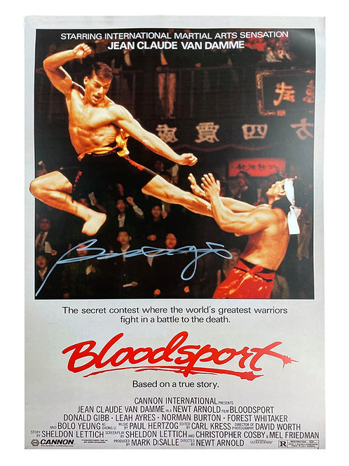 A3 Bloodsport Poster Signed by Bolo Yeung