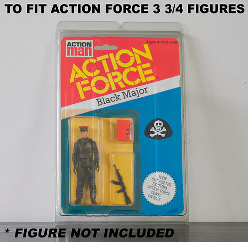 Protective Cases For Action Force 3 3/4 Inch MOC Figures - Various Pack Sizes