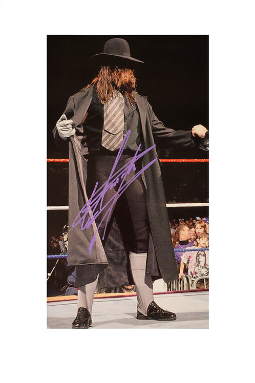 9x16 Print Signed by Wrestling Superstar Mark Calaway aka The Undertake