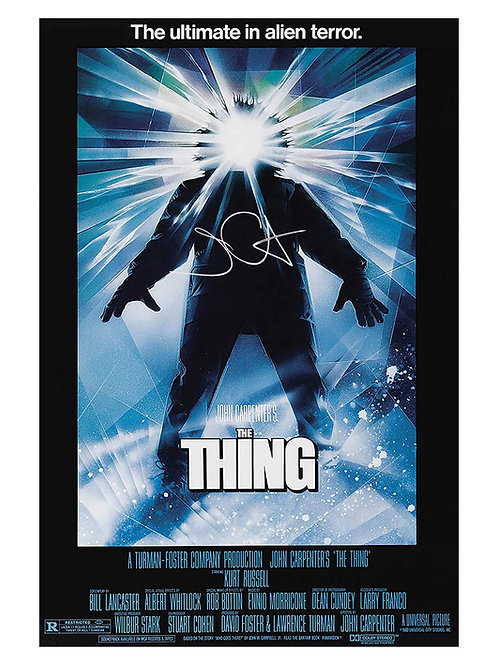 A2 The Thing Poster Signed by John Carpenter