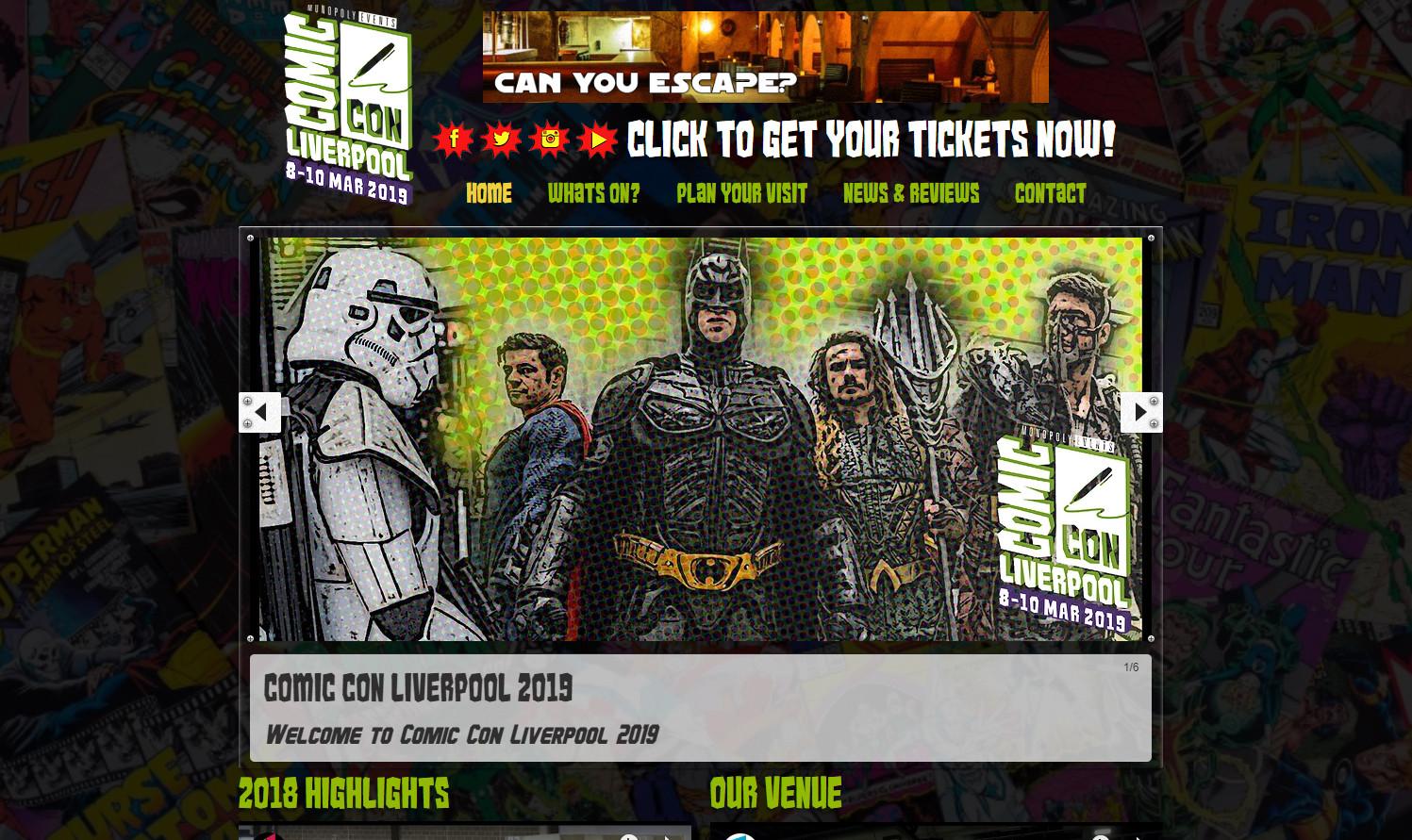 225407cec Comic Con Liverpool | Liverpool Comic Con | Comic Con UK