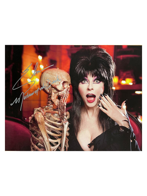 16x12 Elvira Print Signed by Cassandra Peterson