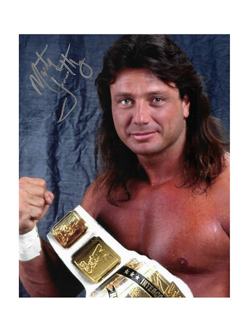 8x10 Print Signed by Wrestling Superstar Marty Jannetty