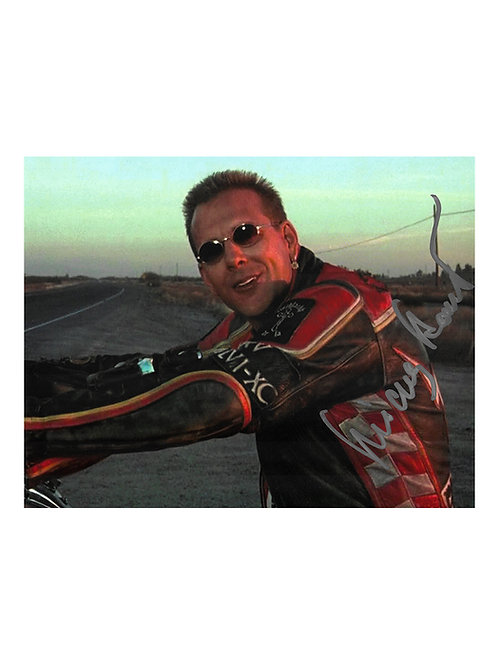 10x8 Harley Davidson and the Marlboro Man Print Signed by Mickey Rourke