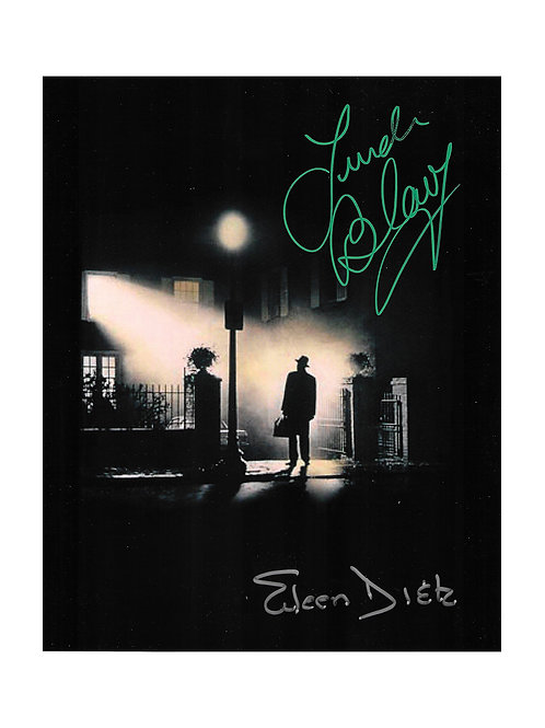 8x10 The Exorcist Print Signed by Linda Blair & Eileen Dietz