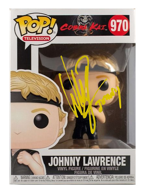 Johnny Lawrence Funko Pop Signed by William Zabka