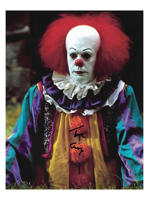 8x10 IT: The Miniseries Print Signed by Tim Curry